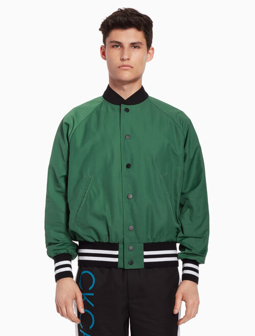 CALVIN KLEIN Dual-toned baseball jacket