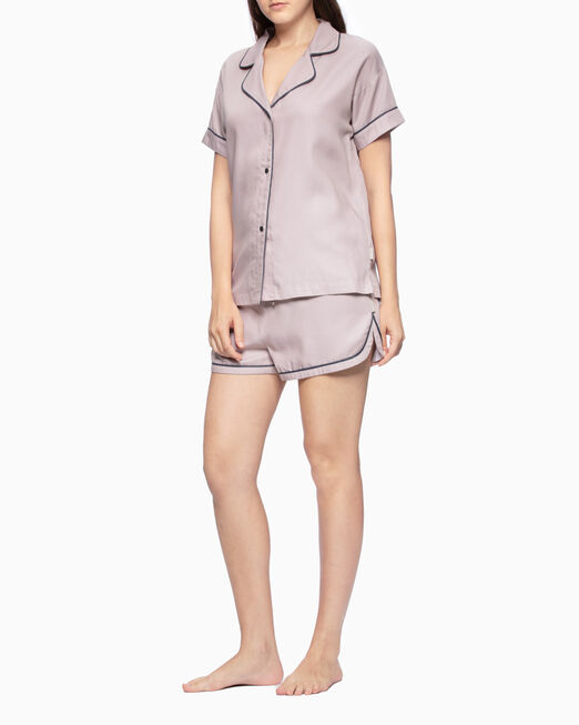 CALVIN KLEIN TENCEL SHORT SLEEVE SLEEP SHIRT