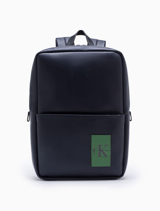 CALVIN KLEIN COATED CANVAS SQUARE BACKPACK