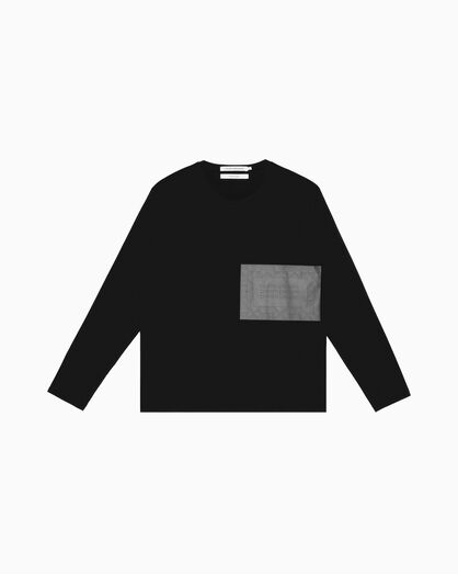 CALVIN KLEIN QUILTED LOGO LONG SLEEVE TEE