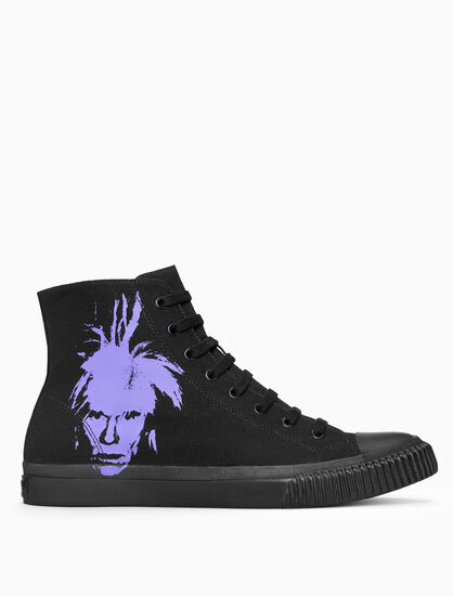 CALVIN KLEIN Warhol Portrait Canvas Sneakers