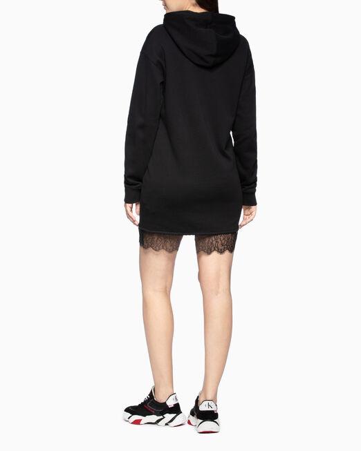 CALVIN KLEIN LACE HEM 스웨트셔츠 드레스