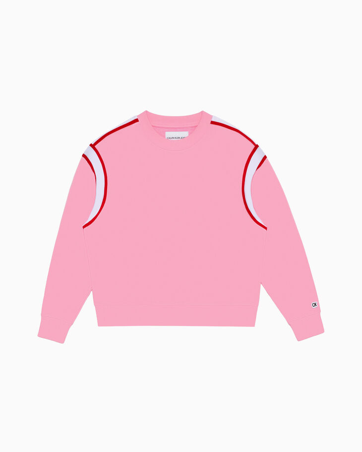CALVIN KLEIN COLOR TAPE SWEATSHIRT