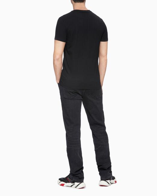 CALVIN KLEIN 남성 본드 사틴 캘빈 클라인 반팔 티셔츠