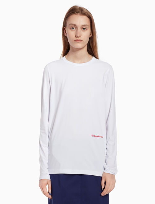 CALVIN KLEIN Logo knit top with long sleeves