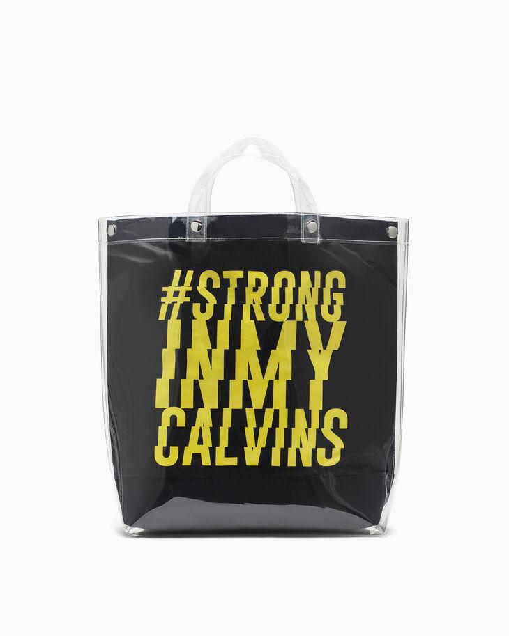 CALVIN KLEIN #STRONG IN MY CALVINS TOTE BAG