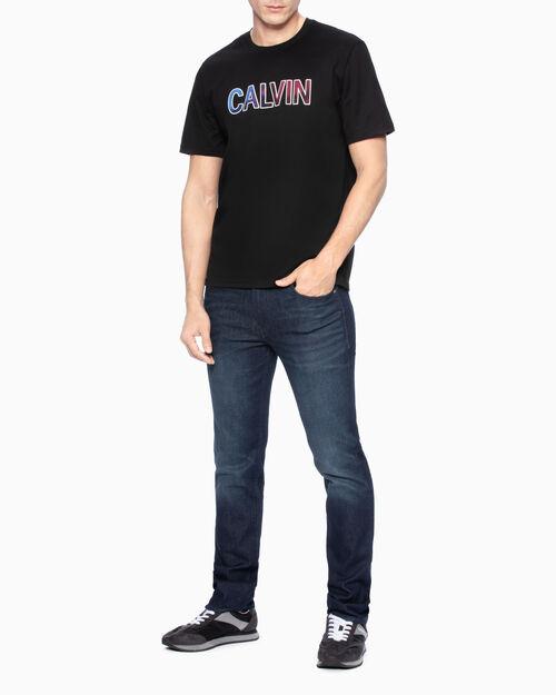 CALVIN KLEIN VELVET LOGO 티셔츠