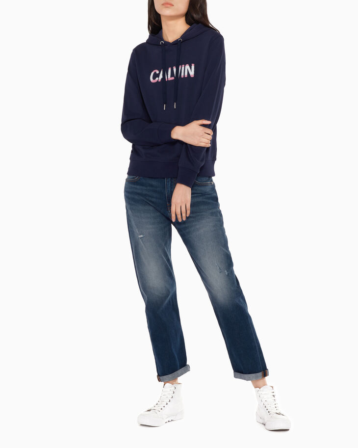 CALVIN KLEIN FRENCH TERRY LOGO 스웨트셔츠