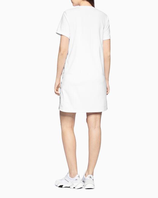CALVIN KLEIN 여성 사이드 로고 테이프 밀라노 드레스