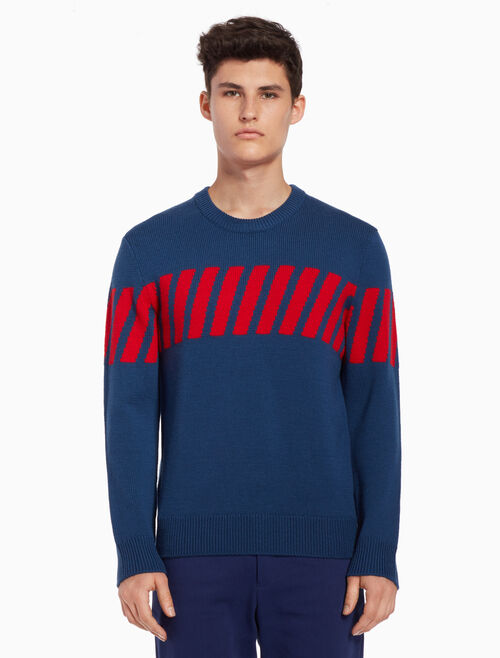 CALVIN KLEIN Knit pullover sweater with stripes