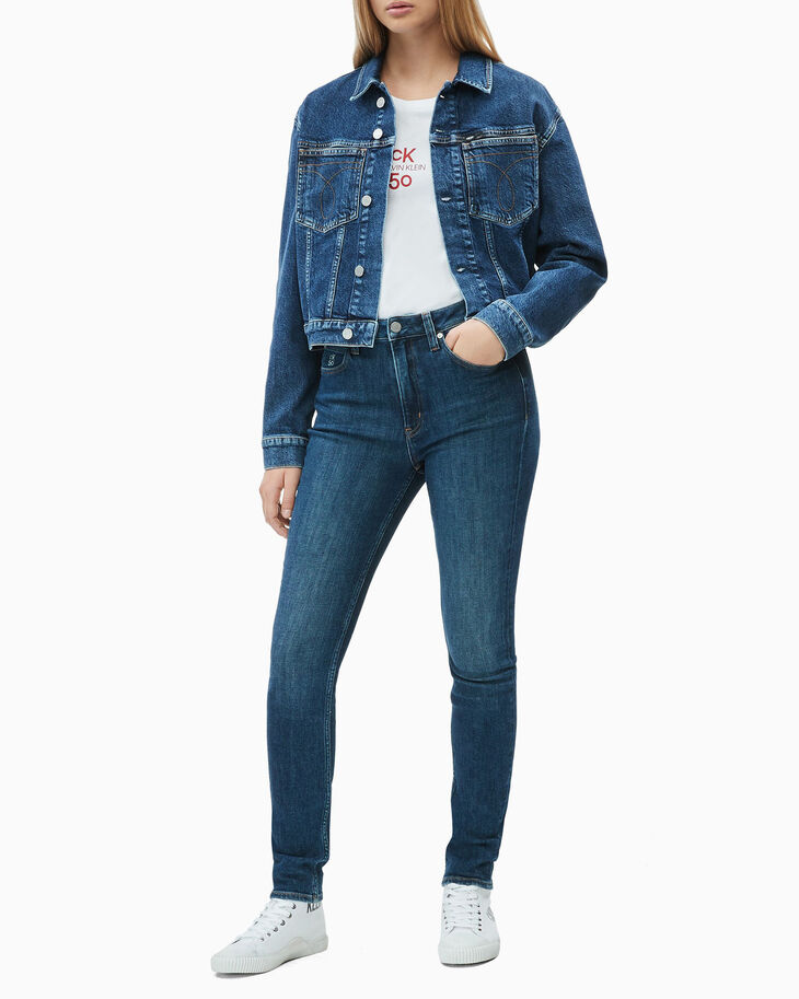CALVIN KLEIN CK50 CROPPED DENIM JACKET