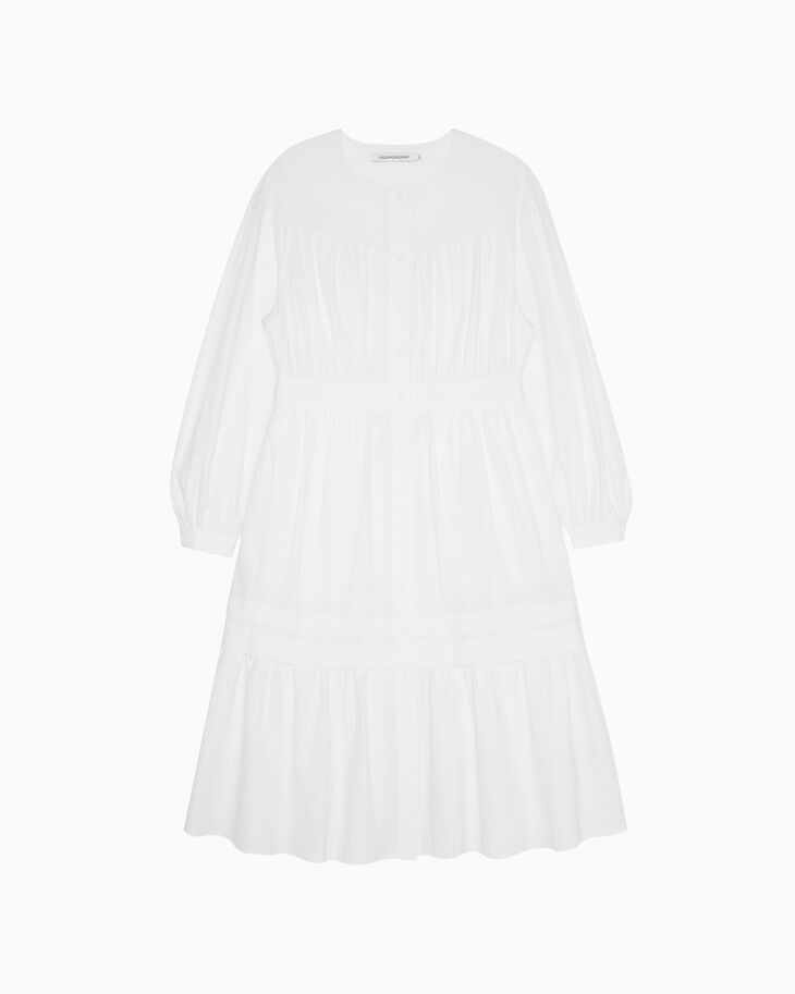 CALVIN KLEIN LONG SLEEVE PRAIRIE DRESS