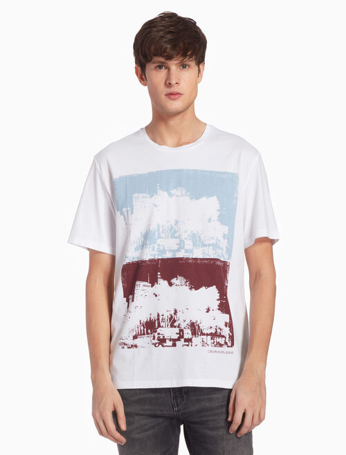 CALVIN KLEIN DUAL CITYSCAPE プリント Tシャツ