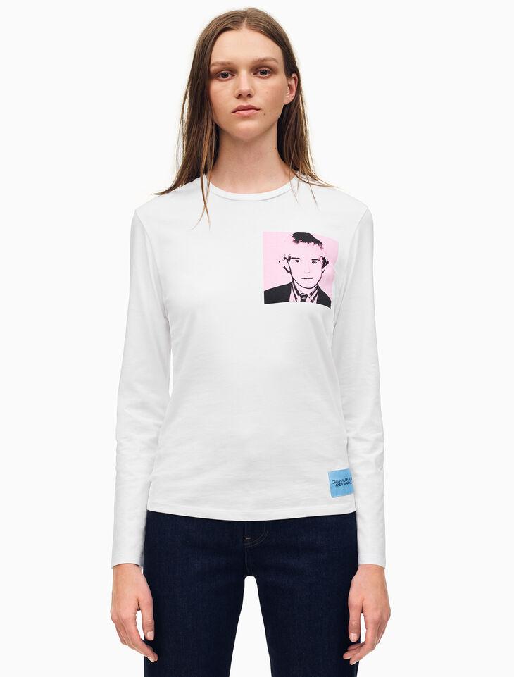 CALVIN KLEIN Warhol Portrait Regular Fit Long Sleeve Shirt