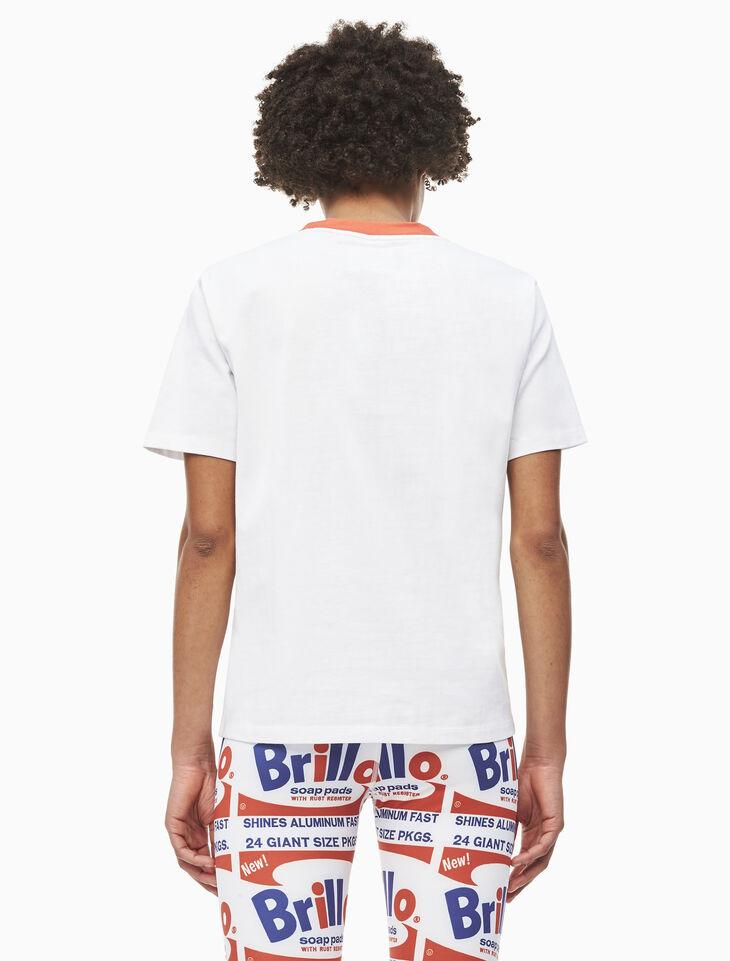 CALVIN KLEIN WARHOL BRILLO PRINT 반소매 티셔츠