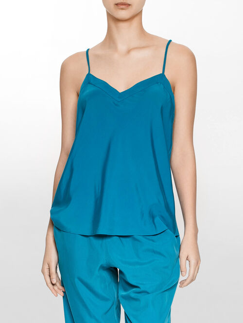 CALVIN KLEIN GLOSS SOPHISTICATED LOUNGE V NECK SLEEVELESS TOP