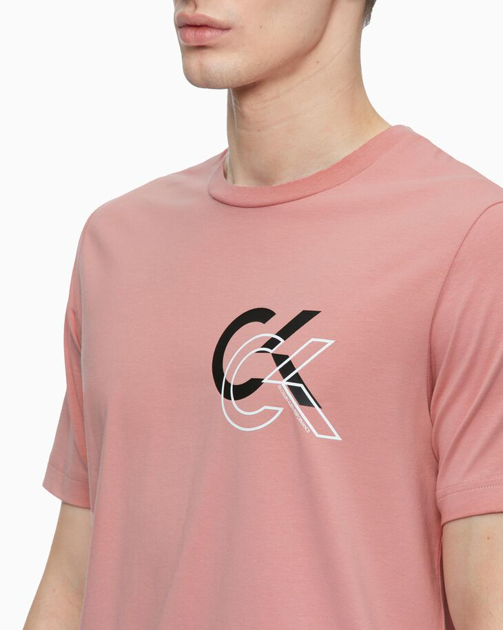 CALVIN KLEIN STATEMENT ESSENTIALS DOUBLE LOGO 上衣