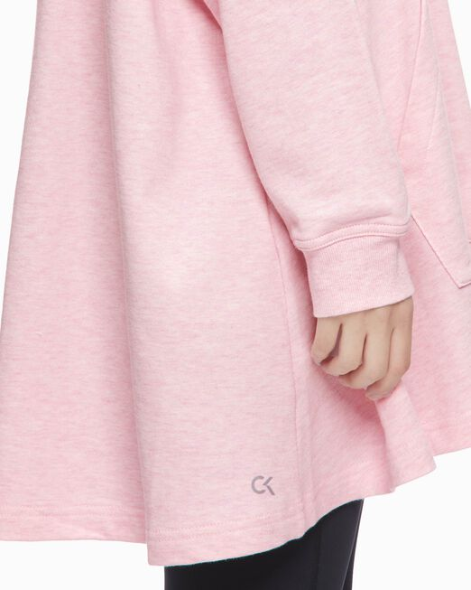 CALVIN KLEIN 여성 아웃라인 씨케이 그래픽 후디드 드레스