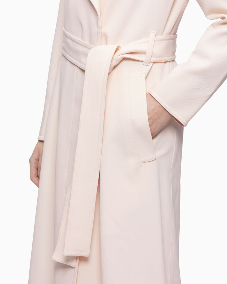 CALVIN KLEIN LONG TWILL TRENCH COAT