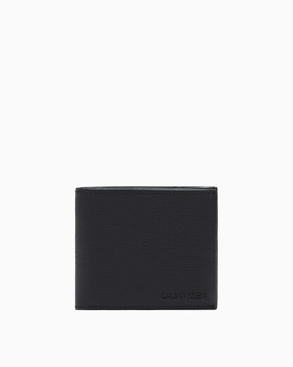 CALVIN KLEIN AIDEN TEXTURE BILLFOLD WALLET WITH COIN CASE