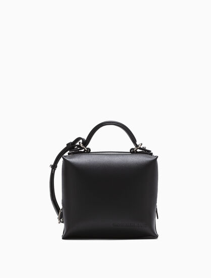 CALVIN KLEIN DOUBLE ZIP BOX CITY CROSSBODY BAG