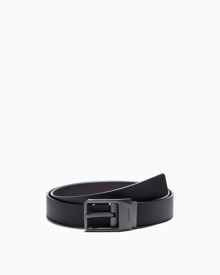 CALVIN KLEIN FACETED BUCKLE BELT 35MM