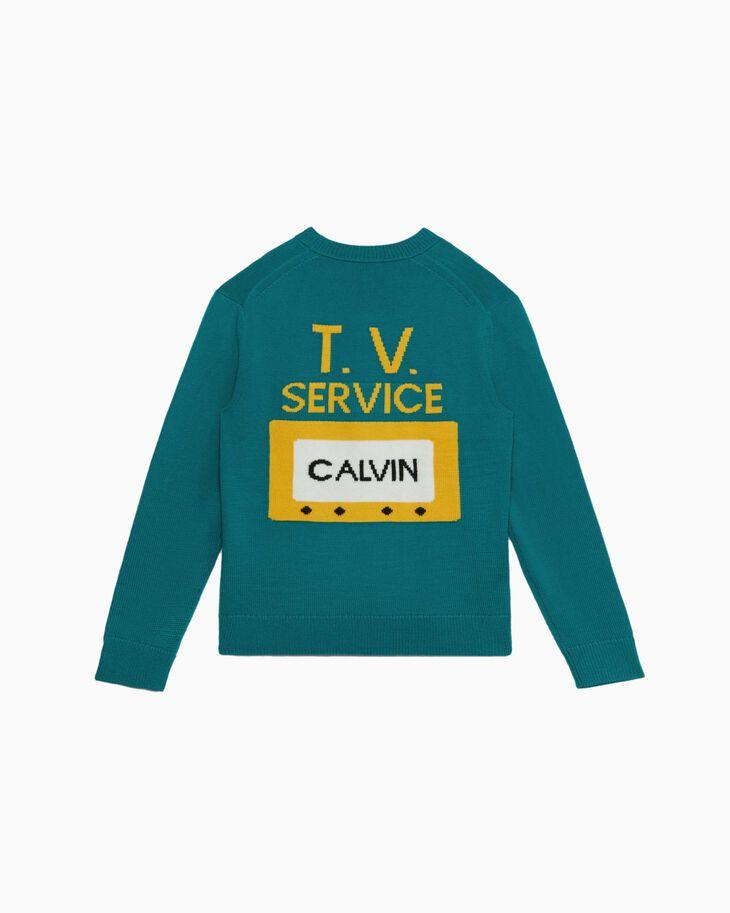 CALVIN KLEIN TV SERVICE KNIT PULLOVER