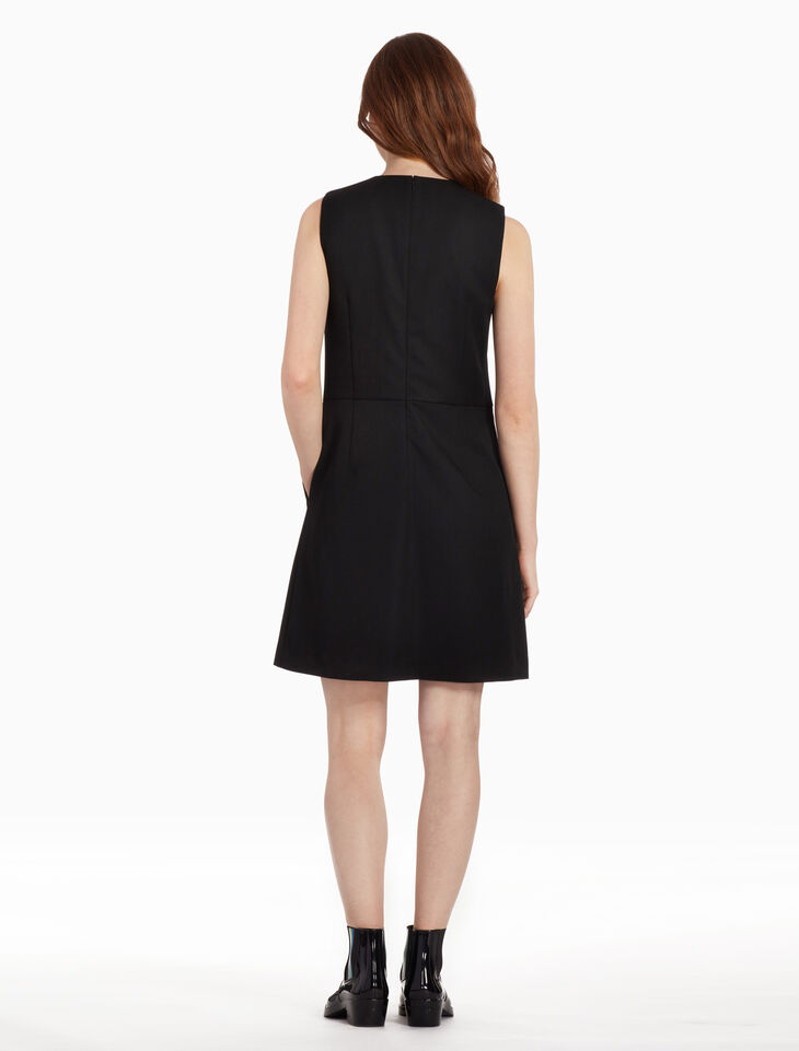 CALVIN KLEIN TEXTURED TWILL DAY DRESS