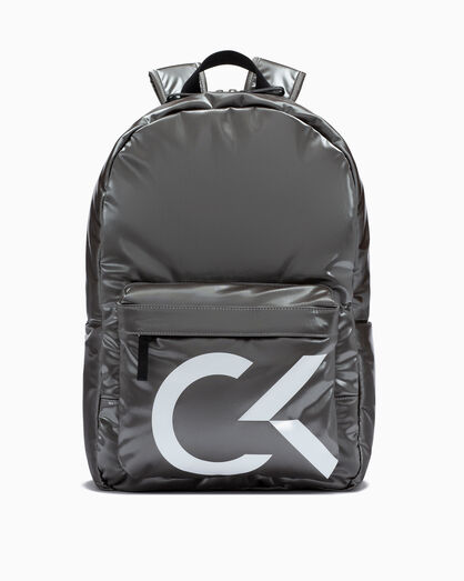CALVIN KLEIN LOGO PUFFER ZIP BACKPACK 45