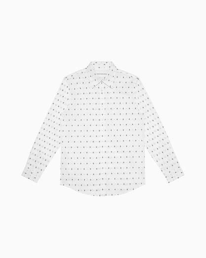 CALVIN KLEIN 올오버 프린트 옥스포드 도비 셔츠