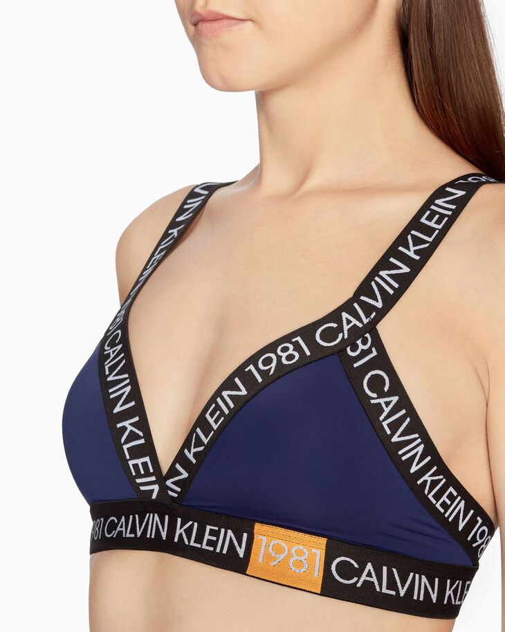 CALVIN KLEIN CK1981 BOLD LIGHTLY LINED TRIANGLE BRALETTE