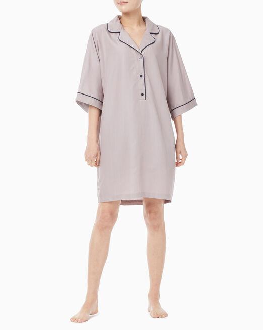 CALVIN KLEIN 여성 텐셀 슬립웨어 캡슐 숏 슬리브 나이트셔츠