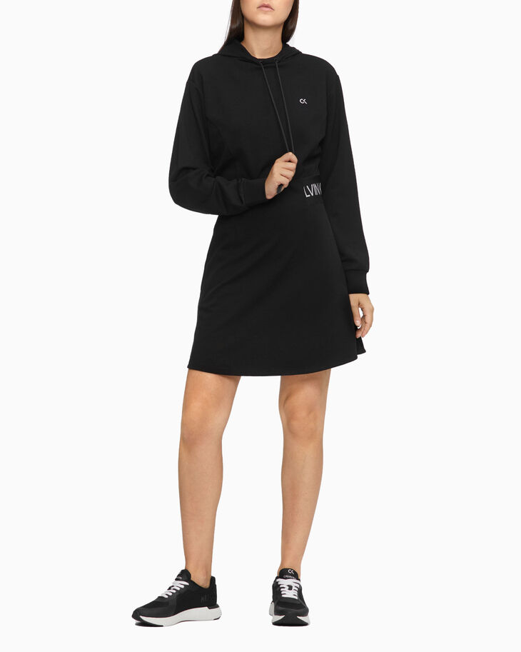 CALVIN KLEIN ACTIVE ICON HOODED DRESS