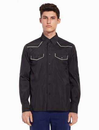CALVIN KLEIN Dual-toned cowboy shirt