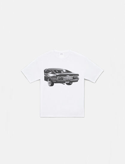 CALVIN KLEIN CAR GRAPHIC CREWNECK T-SHIRT