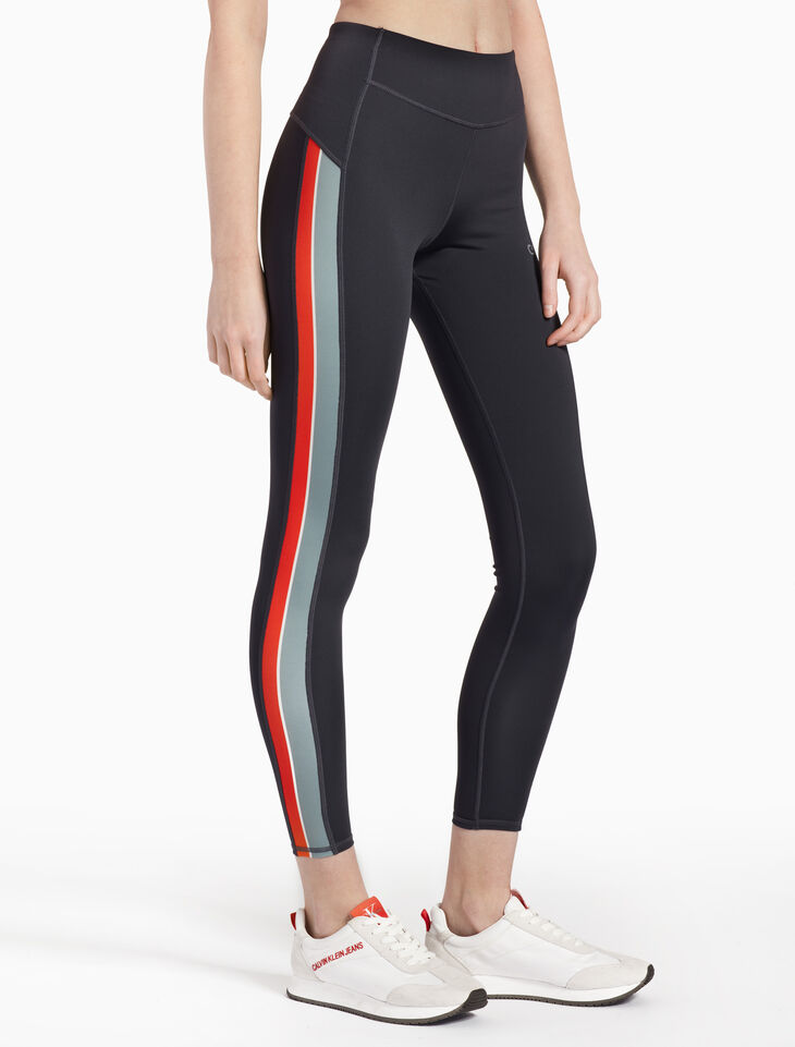 CALVIN KLEIN STRIPE FULL LENGTH LEGGINGS