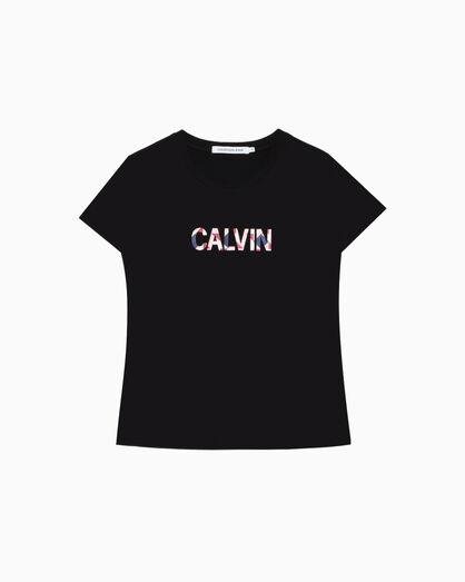 CALVIN KLEIN INSTITUTIONAL EMBROIDERED LOGO T シャツ