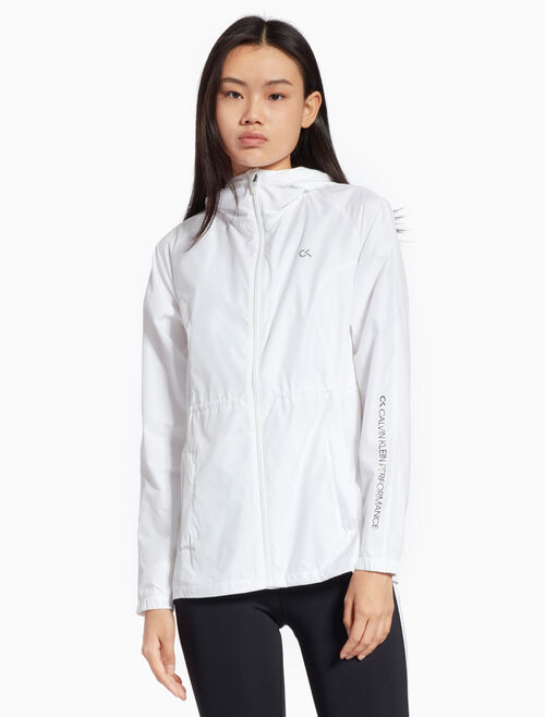 CALVIN KLEIN WIND JACKET WITH ADJUSTABLE WAIST