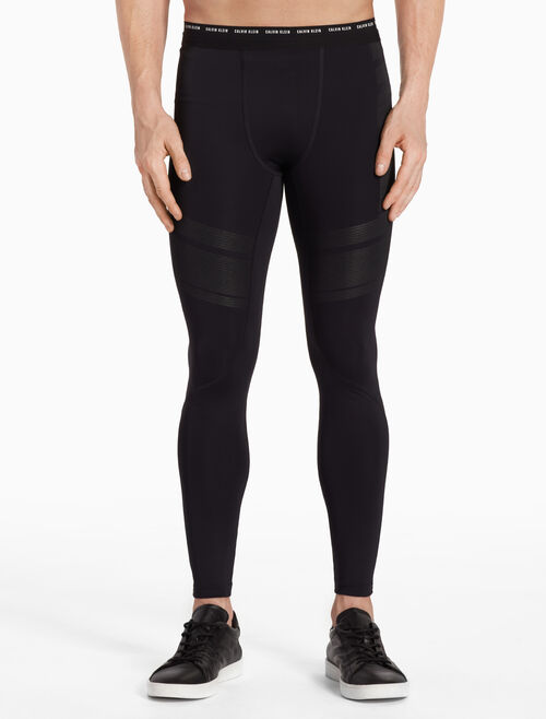 CALVIN KLEIN STRIPED PERFORMANCE LEGGINGS