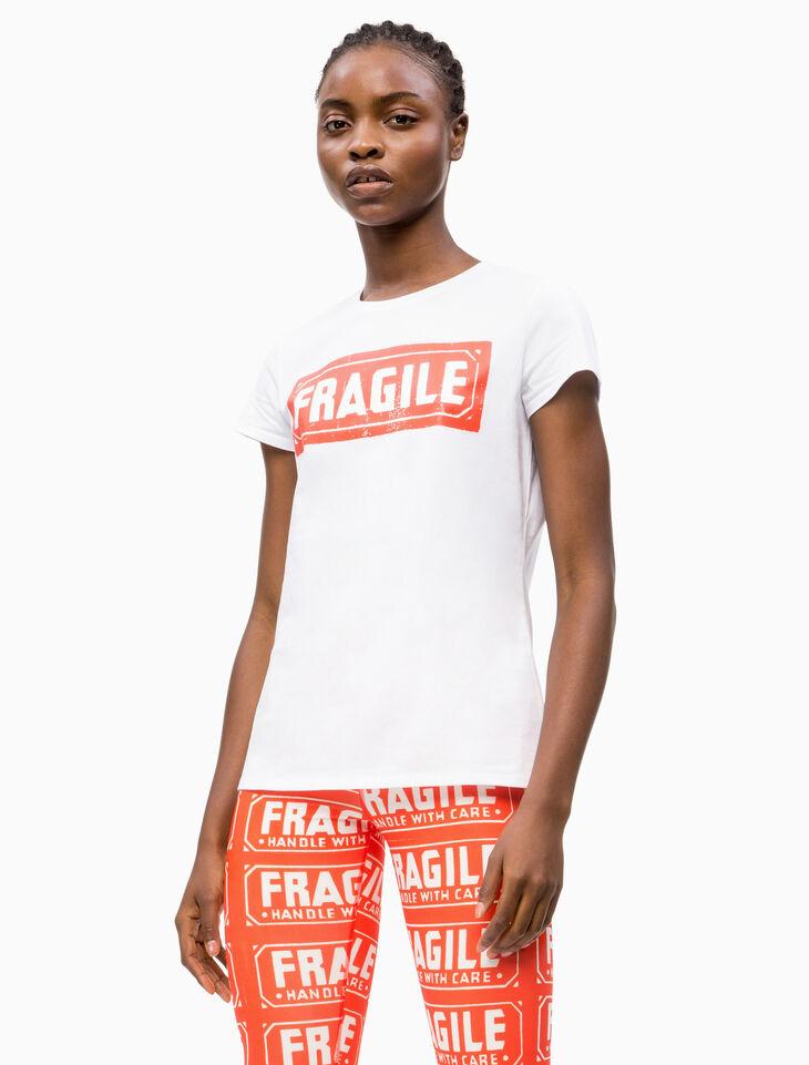 CALVIN KLEIN WARHOL FRAGILE PRINT 반소매 티셔츠