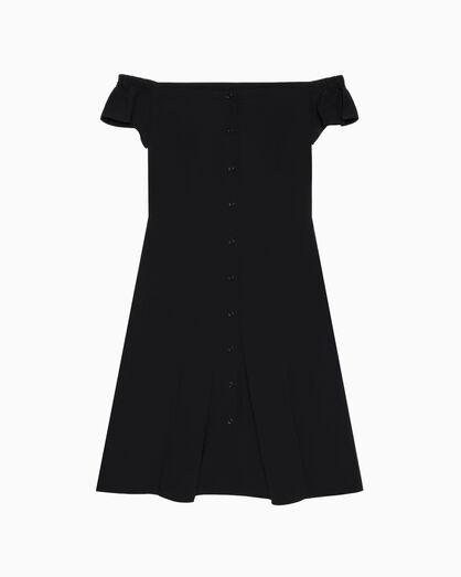 CALVIN KLEIN OFF-SHOULDER FLARED DRESS