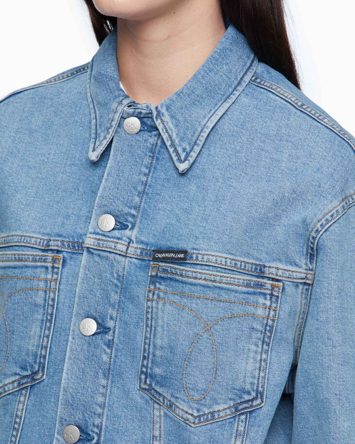 CALVIN KLEIN SUSTAINABLE ICONS OVERSIZED DENIM TRUCKER