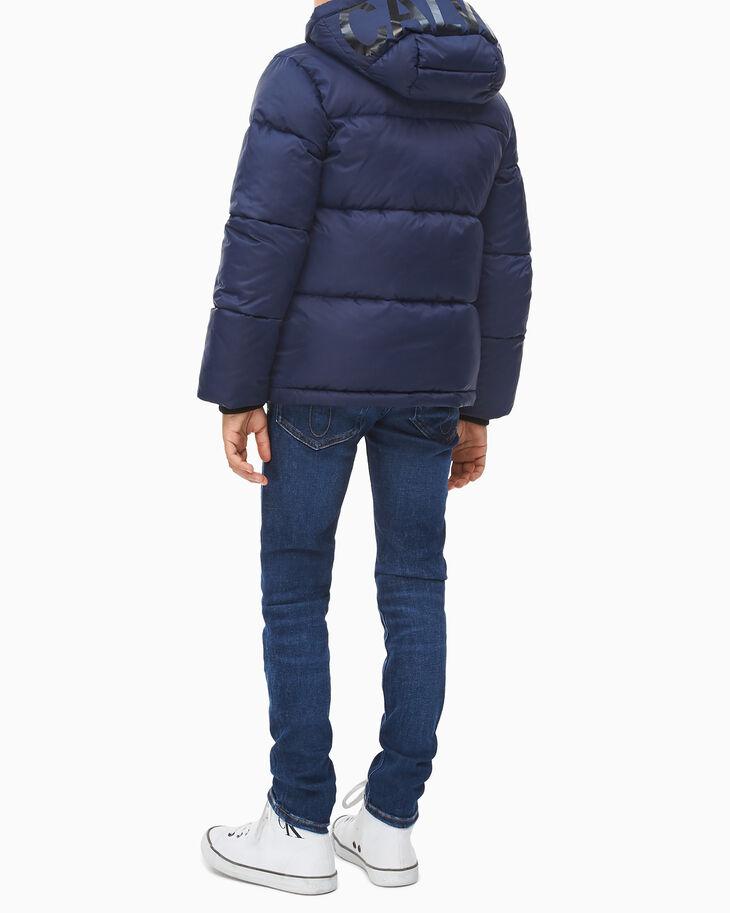 CALVIN KLEIN 남아용 에센셜 로고 퍼퍼 재킷