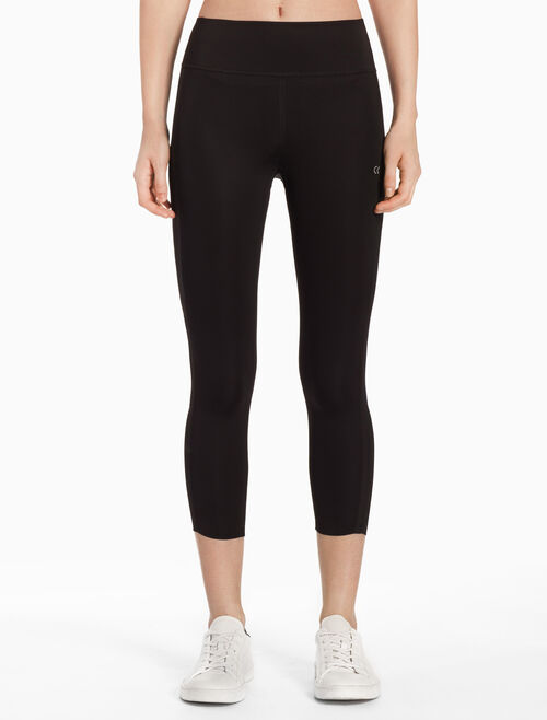 CALVIN KLEIN BONDED CROPPED LEGGINGS