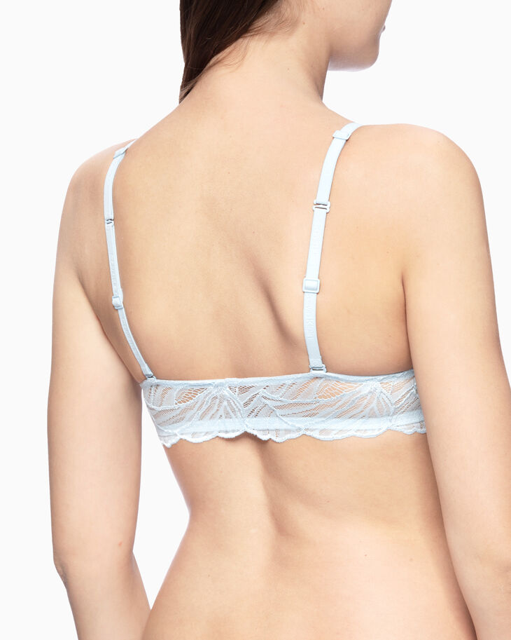 CALVIN KLEIN PERFECTLY FIT IRIS LACE LIGHTLY LINED PLUNGE BRA