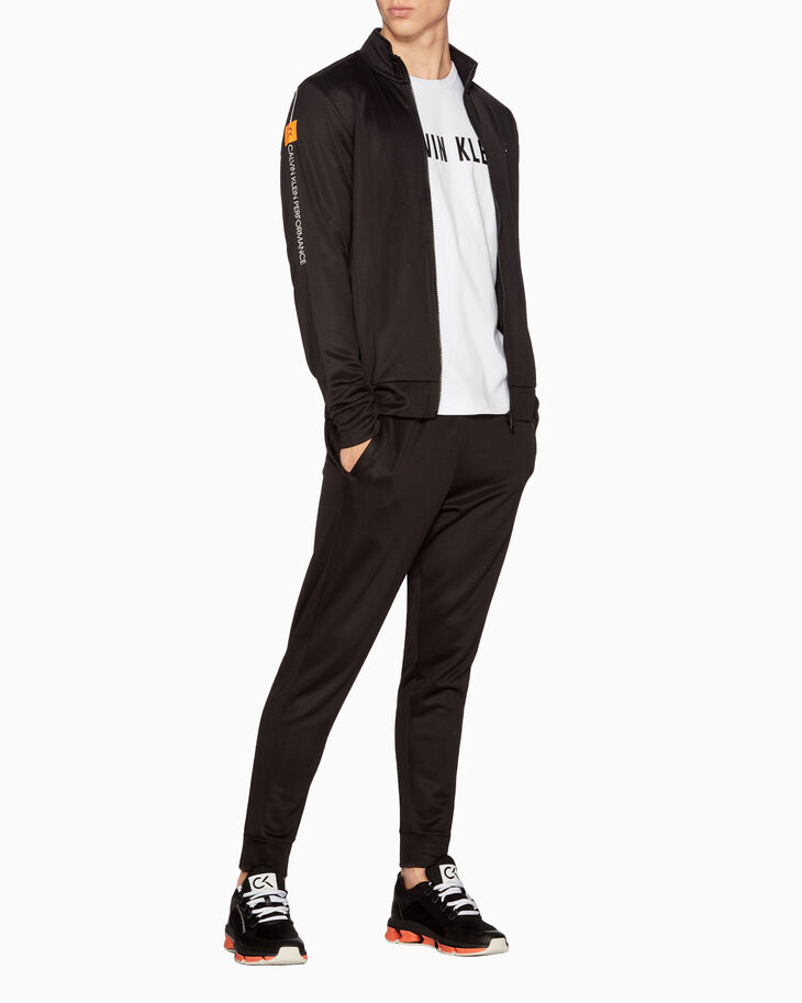 CALVIN KLEIN STATEMENT ESSENTIALS LOGO TRACK PANTS
