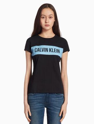 CALVIN KLEIN INSTITUTION FLOWER LOGO PRINT TEE