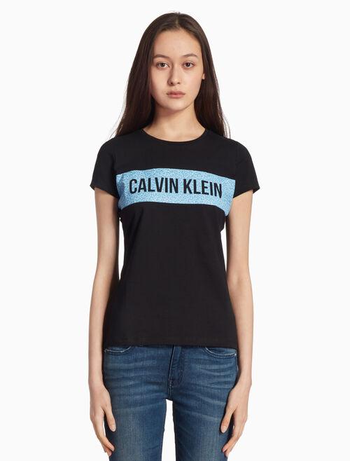 CALVIN KLEIN INSTITUTION 花卉標誌印花上衣