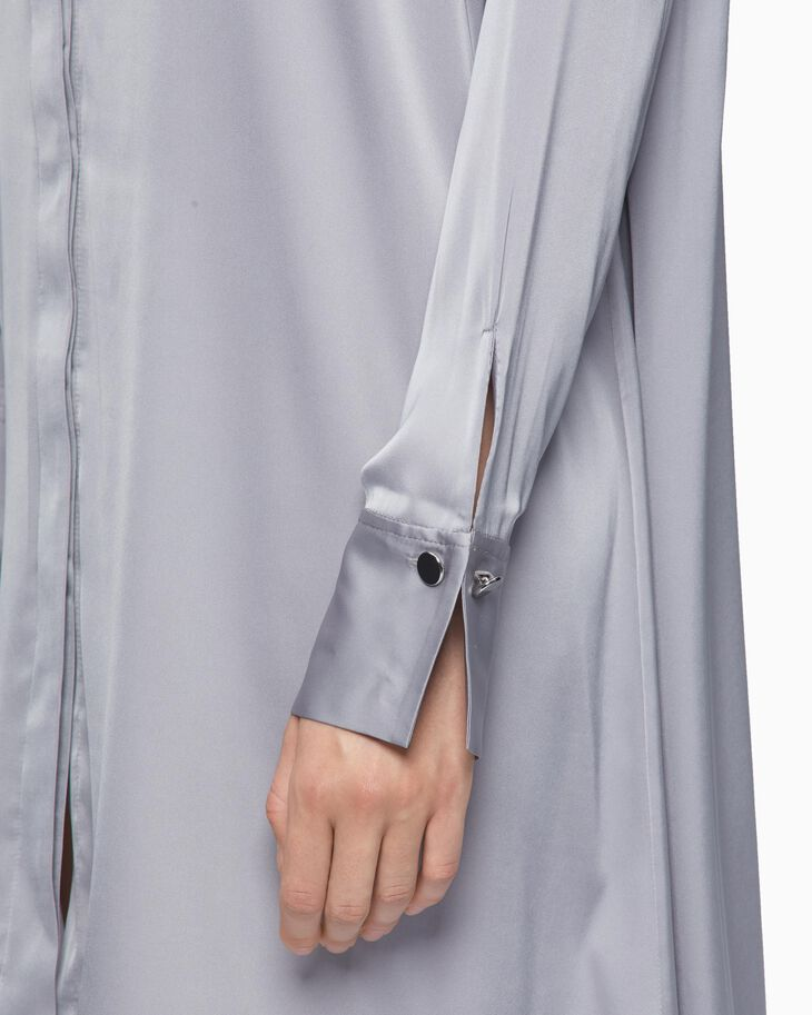 CALVIN KLEIN SHINY LONG SHIRT DRESS