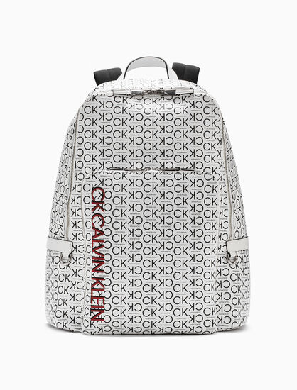 CALVIN KLEIN ALL OVER LOGO BACKPACK 42CM